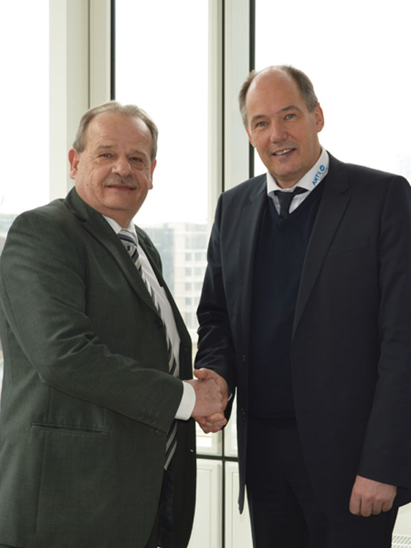 Heinz Wasser, Managing Director Orange Blue Terminals, and Torsten Andritter-Witt, Project Manager ANTS Offshore
